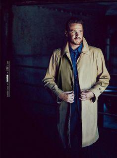 I LOVE MARSHALL! Jason Segel for Esquire UK   Polo Ralph Lauren coat #menswear