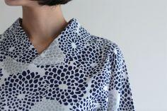 Nagi Jiban Kimono Sleeve Tops Chizimi Cotton Chyrsanthemum Burst : SOU • SOU US Online Store