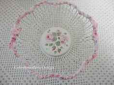 Shabby Rose Rag Wrapped Metal Wire and by CelestinaMarieDesign, $30.00
