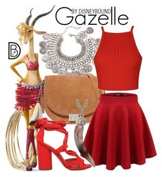 """Gazelle"" by leslieakay ❤ liked on Polyvore featuring Kate Spade, Loeffler Randall, KG Kurt Geiger, Ally Fashion, disney, disneybound and Shakira"