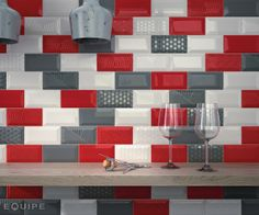 Metro White / Rosso / Dark Grey. Decor Paradise