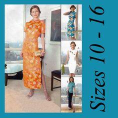 Oriental Mandarin Collar Cheongsam Dresses Tops McCalls 4369 Sewing Pattern