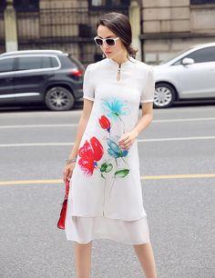 Resultado de imagen para chinese silk pattern dress