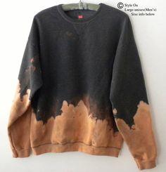 Diy Pullover, Diy Sweatshirt, Fleece Sweater, T Shirt Diy, Gebleichte Shirts, Bleach Shirts, Tie Dye Fashion, Diy Fashion, Diy Clothing