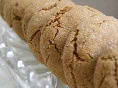 [These are seriously the best molasses cookies ever. I've made this recipe many times and they are always a hit. The key to making them crackle and have the best texture is to make sure the dough is fully chilled. Cookie Desserts, No Bake Desserts, Just Desserts, Cookie Recipes, Delicious Desserts, Dessert Recipes, Cookie Ideas, Yummy Food, Cocoa Cookies