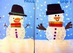doily snowman- Christmas project or gift