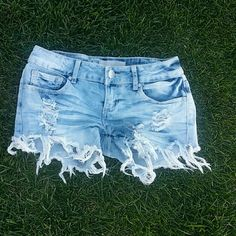 Jean shorts Worn maybe twice(: size 0 but runs a little bigger like a 3. Almost Famous Shorts Jean Shorts