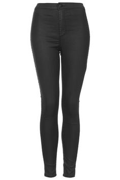 MOTO Black Coated Joni Jeans (high waist)