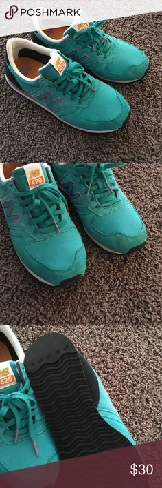 New Balance 420 Sneakers In very good condition. Bought about 8months ago and worn 4-5 times. Super comfy, I️ just don't wear them often. New Balance Shoes Athletic Shoes