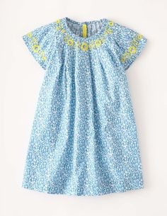 I've spotted this @BodenClothing Embroidered Smock Dress Hazy Blue Ditsy