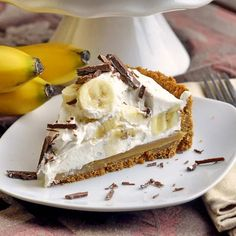 Banoffee Pie - my winning entry into the Today show Home Chef Challenge! My luscious version of this popular British dessert pie with a digestive biscuit crust, plenty of bananas and cream and a sweet toffee filling too. Soooo delicious!