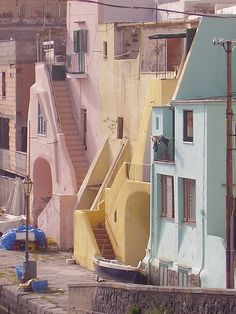 Procida, Campania, Italy Places Around The World, Around The Worlds, Costa, City And Colour, Italian Life, Naples Italy, The Beautiful Country, Visit Italy, Beautiful Places To Visit