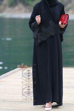 Lulu Lace Abaya | ANNAH HARIRI