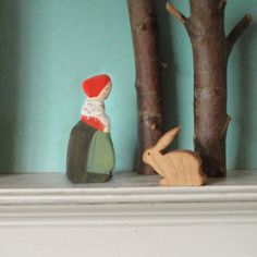 forest mama/  waldorf wooden figure
