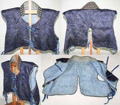 Antique Edo period samurai kusari manchira, an armored vest with hidden chain armor lining. http://www.samuraiantiqueworld.com/