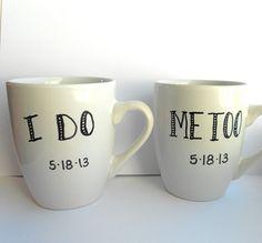 Set of Two Personalized I DO ME TOO by indigotwinweddings on Etsy, $28.00
