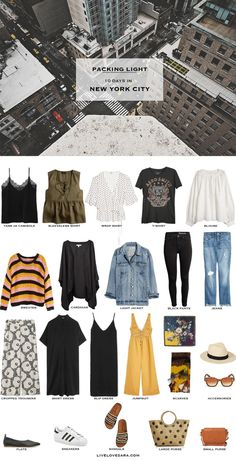 Travel Outfit Summer, Summer Travel, Summer Outfits, Summer Vacations, Summer Europe, New York Outfits, Capsule Wardrobe 2018, Travel Wardrobe, New York City Vacation