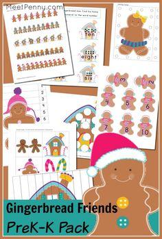 Free Gingerbread Man Pre-K Printable Pack Gingerbread Man Activities, Christmas Activities, Preschool Crafts, Preschool Activities, Kids Crafts, Preschool Christmas, Kids Christmas, Christmas Crafts, Christmas Gingerbread