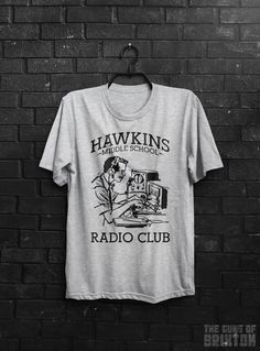 Hawkins Middle School Radio AV Club Stranger Things Inspired TV Show 11 Eleven Adults Mens & Women's T-shirt Top Tee Shirt All Sizes Cols by TheGunsOfBrixton1979 on Etsy https://www.etsy.com/listing/455589544/hawkins-middle-school-radio-av-club