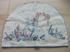 Vintage embroidered crinoline lady tea cozy - fun to make with a grand-daughter for those special tea parties!