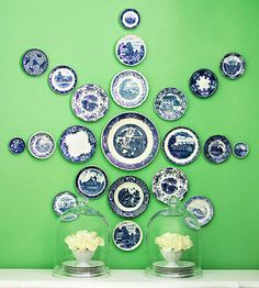 Plates on wall - use your imagination to arrange it the way you like it :)