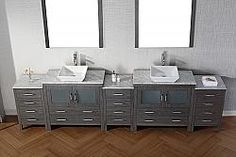 Avant Styles Modern 11 Double Sink Bathroom Vanity Set Espresso w/Polished Chrome Faucet Double Sink Bathroom, Bathroom Sink Vanity, Modern Bathroom, White Counters, White Cabinets, Free Standing Vanity, Cabinet Dimensions, Modern Vanity, Vanity Set