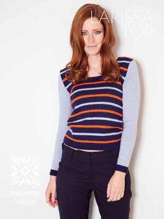 Larisa Top knitting pattern in MillaMia Merino Wool - Discover more at LoveKnitting