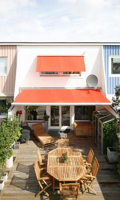 Whether for commercial or residential use, an extended retractable deck awning is a fabulous way to add shade.