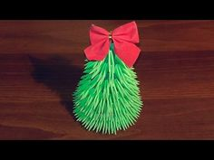 Origami Christmas Tree (Pine Tree) - Árvore de Natal - YouTube