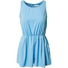 Glamorous Flirty Playsuit (29 CAD) ❤ liked on Polyvore featuring jumpsuits, rompers, dresses, jumpsuit, sky blue, womens-fashion, sleeveless jumpsuit, blue jump suit, jumpsuits & rompers and romper jumpsuit