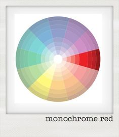 Colour theory: monochromatic