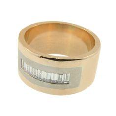 Rose & White Gold 9 x Baguette Cut Diamond Ring, handmade at Cameron Jewellery Diamond Rings, Diamond Cuts, Baguette, White Gold, Jewellery, Rose, Winter, Handmade, Winter Time