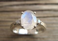 Moonstone Antique Engagement Ring Antique Gold Ring by Benati