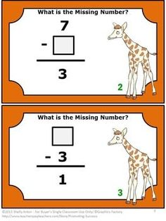 FREE Downlaod Subtraction Facts Math Task Cards Kindergarten 1st Grade Centers: You will receive six task cards to use in your centers or stations as review games, test prep activities or as a quick formative assessment. You will also receive a student response form and answer key.  These task cards are a great alternative to worksheets.  They allow for movement in the classroom by playing SCOOT, having a scavenger hunt or by playing other games.