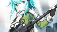 Sinon Gun Gale Online Anime Girl 1366x768 Picture Sword Art Online 2