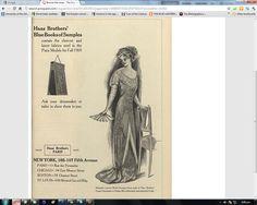 Advert in American Vogue 1909 Paris Model, Blue Lantern, Gilded Age, First Novel, Dressmaking, Saga, Novels, Vogue, Dreams