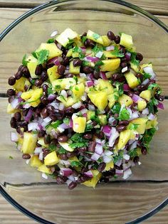 Pineapple, Blackbean Salsa