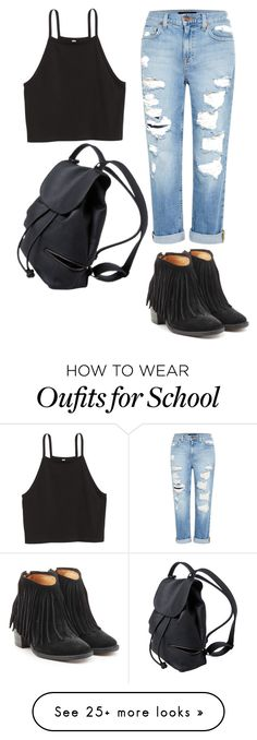 """Casual school ootd"" by itsbrianasanders on Polyvore featuring Genetic Denim and Fiorentini + Baker"