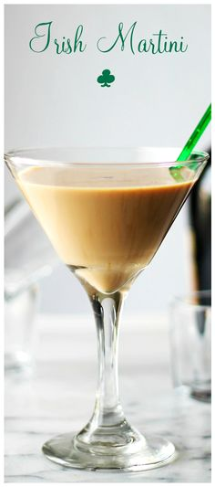 Irish Martini | www.diethood.com | A splash of vodka, some strong espresso and a good dose of Irish Cream create this rich and SO delicious Irish Martini!