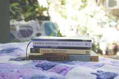 onbottlegreen:  Murakami, Twain, Kundera New on the to-read shelf