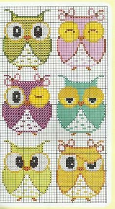 Cross Stitch Owl, Cross Stitch Kitchen, Cross Stitch Bookmarks, Cross Stitch Animals, Cross Stitching, Cross Stitch Embroidery, Loom Patterns, Canvas Patterns, Cross Stitch Patterns