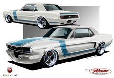 Restomod Mustang, 1966 Ford Mustang, Mustang Cars, Car Ford, Cool Car Drawings, Vintage Mustang, Chip Foose, Car Illustration, Car Posters