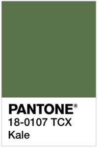 Pantone Kale - one of the 10 colors that will be most popular for Spring 2017
