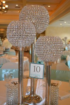 Bling candle holders we're having on some tables at our reception!! From I Do Events!
