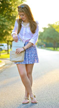 preppy fall transition outfit