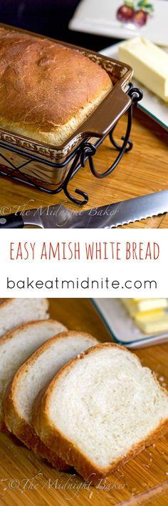Amish White Bread   bakeatmidnite.com   #bread #copycat #recipe
