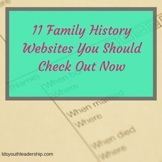 11 Family History Websites You Should Check Out Now