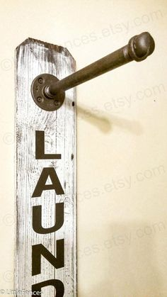 signs This laundry sign is decorative and functional, performing double duty as a clothing rack. Laundry Hanger, Laundry Room Signs, Laundry Room Organization, Laundry Rooms, Laundry Closet, Mud Rooms, Small Laundry, Laundry Drying, Laundry Area