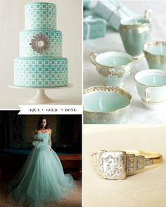 Aqua + gold wedding inspiration