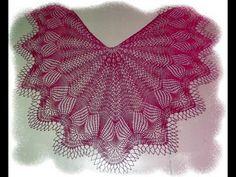 Needlework, Shawl, Ruffle Blouse, Cap, Youtube, Women, Neckline, Tricot, Scarf Patterns
